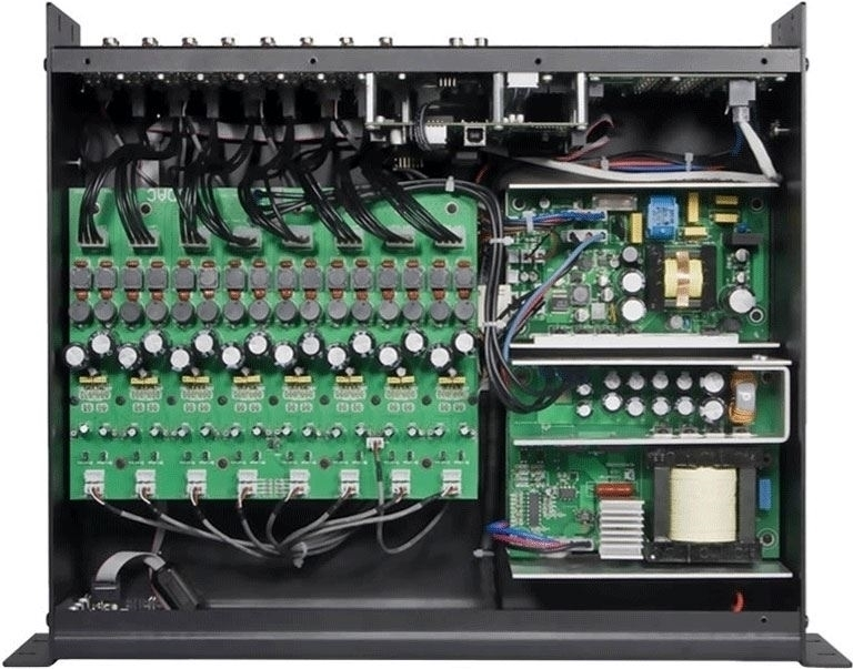 Audac POW2 - Внутренний 16-канальный усилитель 16х60 Вт/4 Ом, 16х30 Вт/8 Ом, 8х120 Вт/8 Ом для M2/R2