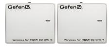 Gefen  GTV-WHD-60G – Комплект устройств для беспроводной передачи HDMI сигнала с цифровым звуком формата 7.1 на расстояние до 10 м