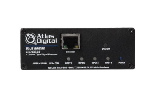Atlas IED TSD-BB44 - Цифровой аудиопроцессор BlueBridge, 4 входа/ 4 выхода в корпусе TSD