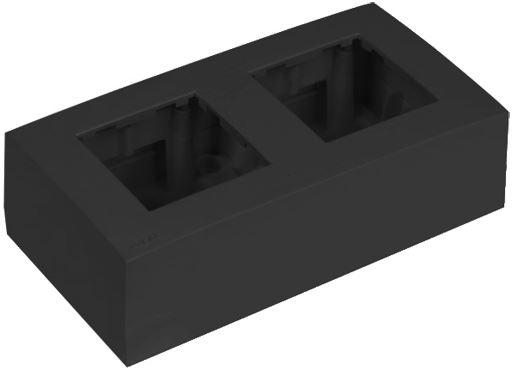 Audac WB45D/B - Рамка с настенной коробкой для поверхностного монтажа двух модулей 45x45 мм