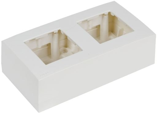 Audac WB45D/W - Рамка с настенной коробкой для поверхностного монтажа двух модулей 45x45 мм
