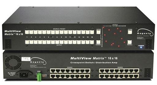 Magenta 2211038-01 - Матричный коммутатор 16x16 сигналов видео, аудио и RS-232, передаваемых по витой паре