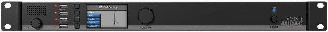 Audac XMP44 - Шасси для модульного источника аудиосигналов c управлением по IP и RS-232