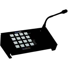 Atlas IED IED5416CS-G - 16-кнопочная программируемая станция системы оповещения GLOBALCOM 5400 с DSP-процессором и микрофоном на «гусиной шее»
