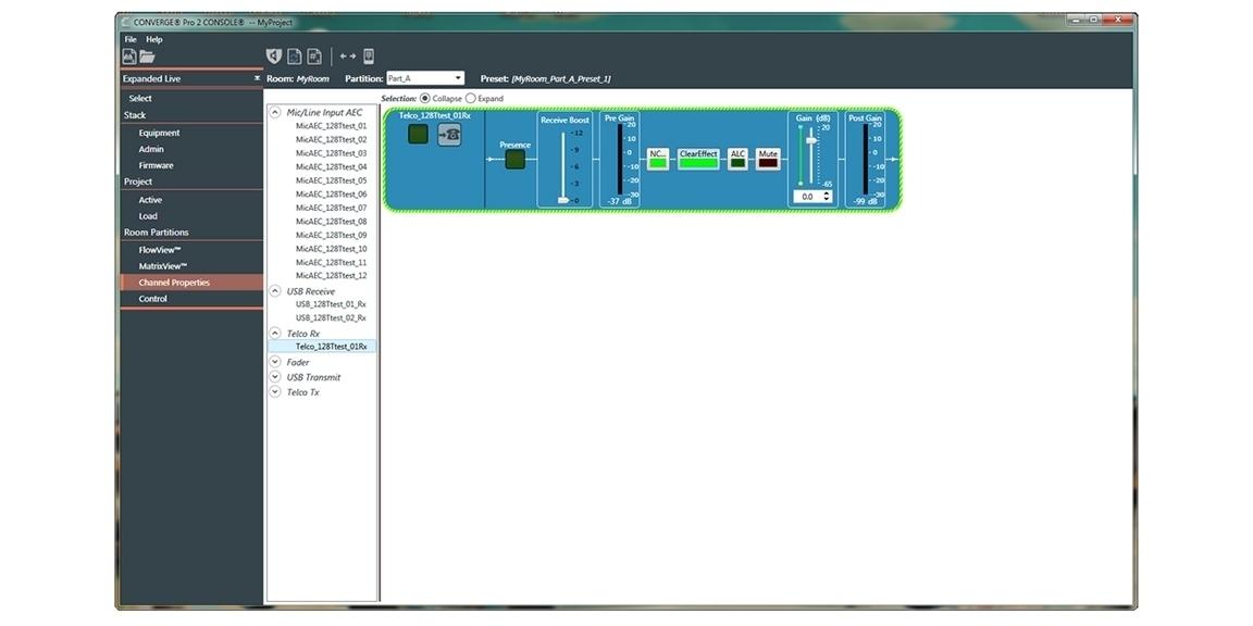 ClearOne CONVERGE Pro 2 128TD - Аудиоплатформа с DSP-процессором, 12 Mic/Line, 8 Mic/Line выходов, телефонный интерфейс, Dante
