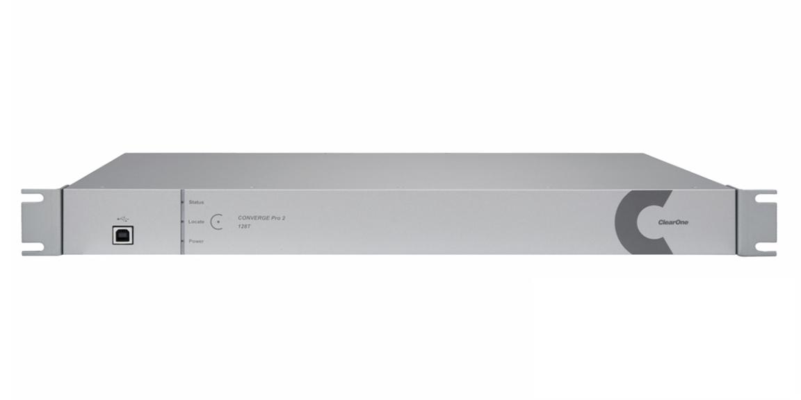 ClearOne CONVERGE Pro 2 128T - Аудиоплатформа с DSP-процессором,12 Mic/Line, 8 Mic/Line выходов, телефонный интерфейс