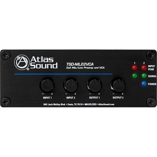 Atlas IED TSD-ML22VCA - Двухканальный предусилитель, 2 микр./лин. входа
