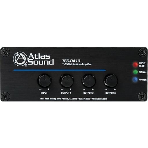 Atlas IED TSD-DA13 - Усилитель-распределитель 1:3 c регулировкой уровня