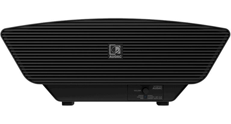 Audac NOBA8A/B - Компактный 8'' активный сабвуфер 100–200 Вт/8 Ом черного цвета с возможностью подключения сателлитов