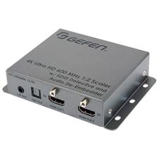 Gefen EXT-UHD600A-12-DS - Усилитель-распределитель 1:2 сигналов HDMI 3D, 4K с HDCP 1.4, 2.2 с масштабированием и деэмбеддером аудио