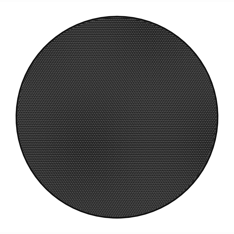 Atlas IED EGR43B - Круглая декоративная решетка без окантовки для FAP43T-W, цвет черный