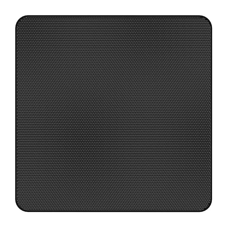 Atlas IED EGS33B - Квадратная декоративная решетка без окантовки для FAP33T-W, цвет черный