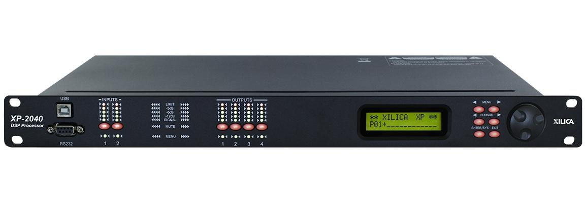 Xilica XP-2040 - DSP-аудиопроцессор серии XP для работы с АС, 2х4 линейных входов/выходов XLR