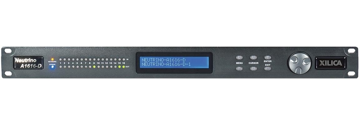 Xilica A1616-D - Цифровой аудиопроцессор серии Neutrino с открытой архитектурой, 16х16 цифрового аудио AES/EBU