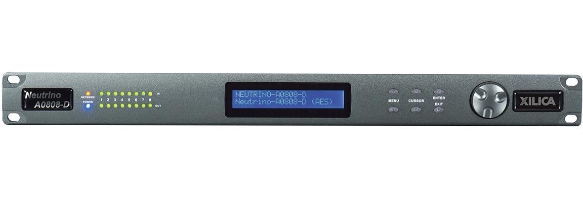 Xilica A0808-D - Цифровой аудиопроцессор серии Neutrino с открытой архитектурой, 8х8 цифрового аудио AES/EBU