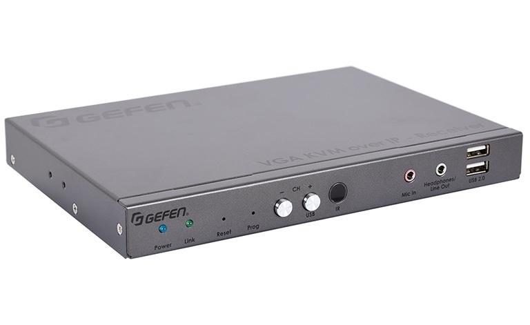 Gefen EXT-VGAKA-LANS-RX - Приемник сигналов VGA, USB, RS-232, аудио и ИК из Ethernet