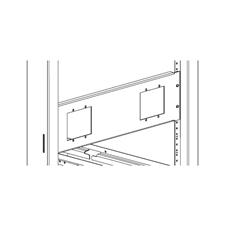 Xilica Mini-RM-2-Blk - Монтажный комплект для крепления двух настенных панелей управления серии Mini в стойку