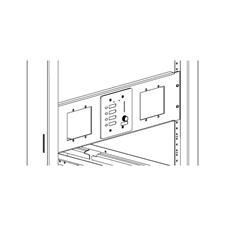 Xilica Mini-RM-3-Blk - Монтажный комплект для крепления трех настенных панелей управления серии Mini в стойку