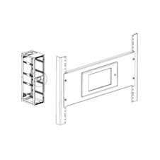 Xilica Touch-RMKIT-Blk - Монтажный комплект для крепления настенной панели управления Touch SM7 в стойку
