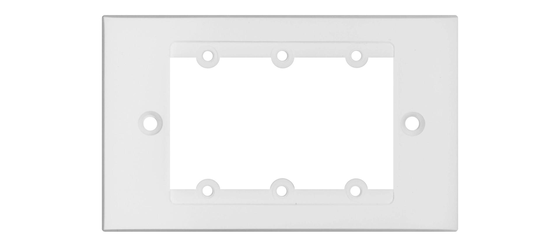 Kramer FRAME-1G/US(W) - Рамка для монтажа модулей-переходников на три места