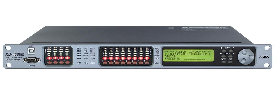 Xilica XD-4080M - Мощный DSP-аудиопроцессор серии XD для работы с АС, 4 линейных/микрофонных входа, 8 выходов XLR, 2(4)х4 входов/выходов AES/EBU