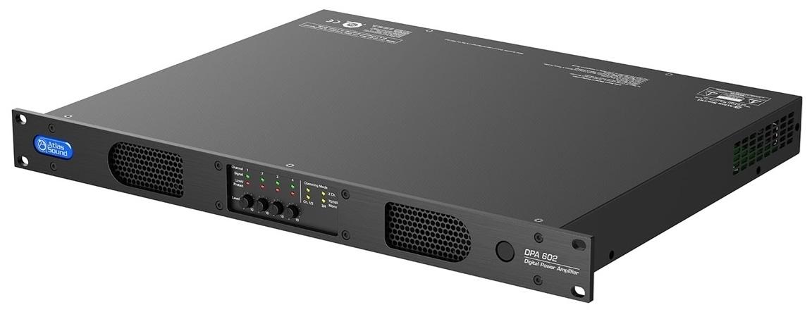Atlas IED DPA602 - Усилитель мощности с DSP-процессором, 4x150 Вт – 4 Ом, 4x75 Вт – 8 Ом, 2х300 Вт – 70/100 В