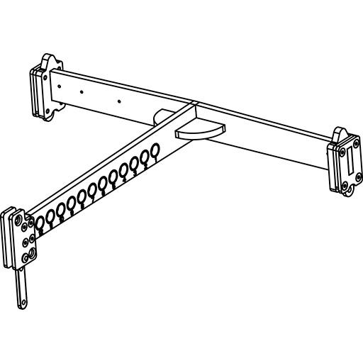 Axiom KPTAX2065 - Рама для подвеса или установки до 4-х акустических систем AX2065, черного цвета