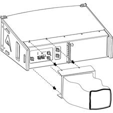 Axiom RAINCOV2065 - Чехол для защиты кабелей активной АС AX2065 от дождя, черного цвета