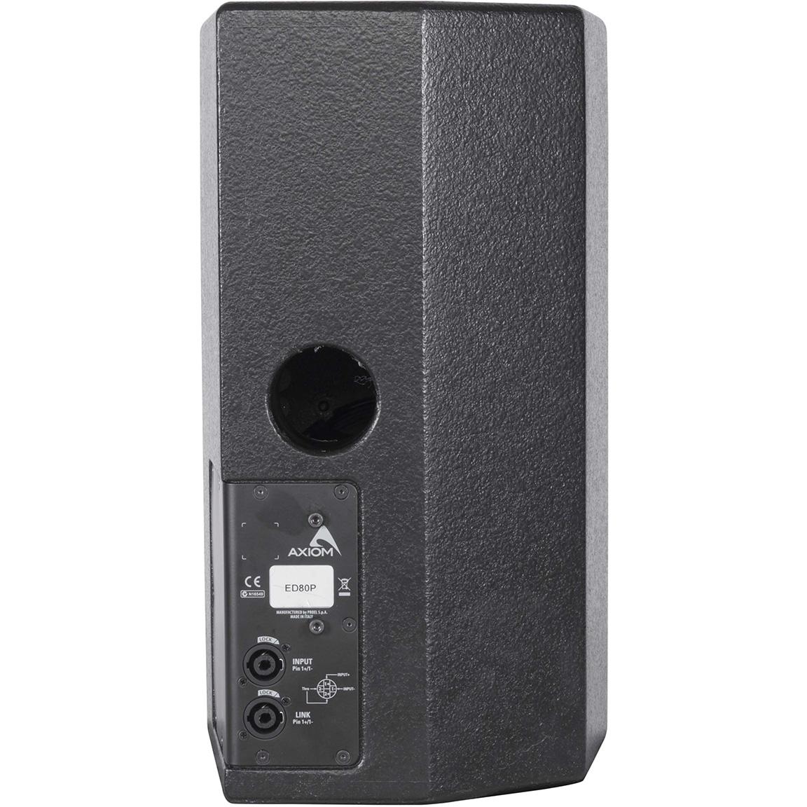 Axiom ED80P - Пассивная акустическая система 8'' с несимметричной диаграммой направленности, 280–560 Вт, черного цвета
