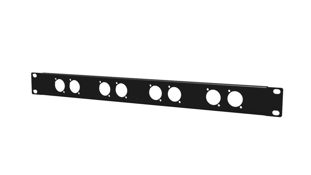 Caymon BP108 - 19'' рэковая панель высотой 1U, 8 отверстий D-size