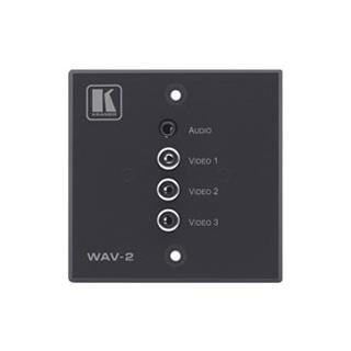 Kramer WAV-2 - Настенная панель-переходник для видеосигналов (YUV, CV, YC, RGB) и звукового сигнала