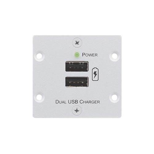Kramer W-2UC/EU(W) - Блок питания для двух мобильных устройств с разъемом USB с общей нагрузкой до 4 А