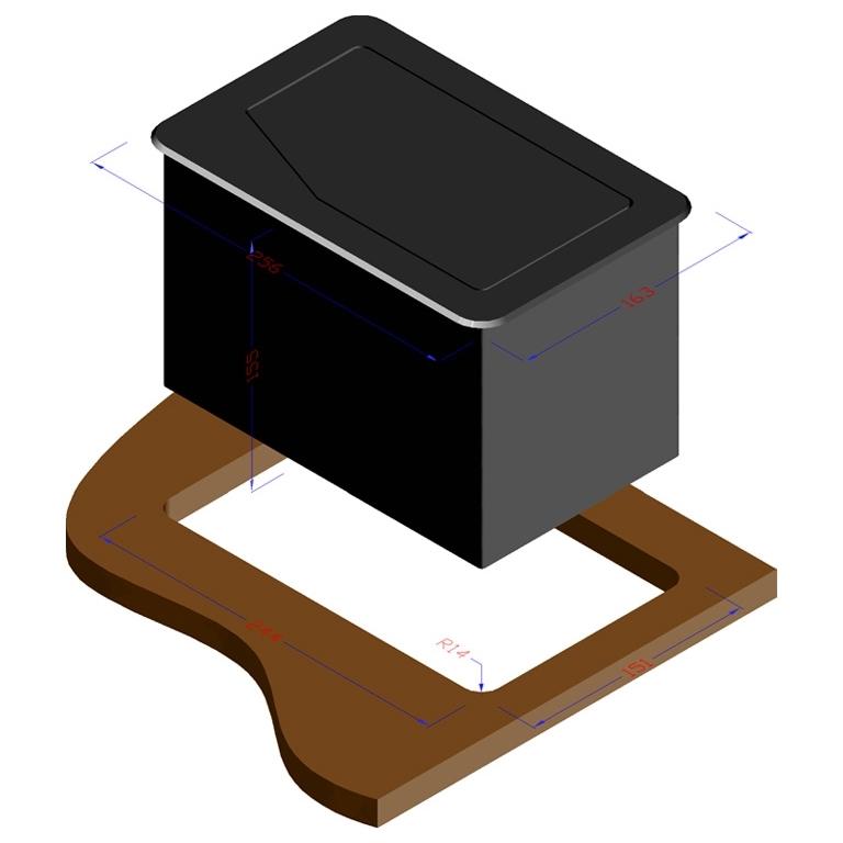 Qtex MDA-850ME - Настольный автоматический модуль кабельных подключений со сменными панелями