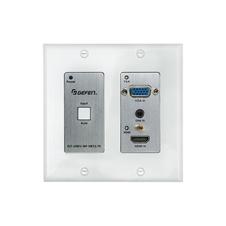 Gefen EXT-UHDV-WP-HBTLS-TX - Настенная панель-передатчик / масштабатор / коммутатор c автопереключением сигналов HDMI, VGA с аудио в витую пару CAT5e, HDBaseT