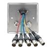 Kramer WAV-5C/EU/GB(G) - Настенная панель-переходник с проходными разъемами для VGA, видео YUV и стереоаудио