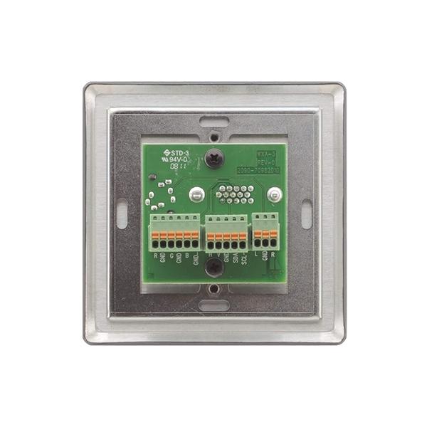 Kramer WXA-3/EU(G) - Настенная панель-переходник с разъема VGA и аудио (розетка 3,5-мм) на клеммный блок