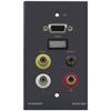 Kramer WAV-6H/US(G) - Настенная панель-переходник с разъемами HDMI, VGA, CV, стереоаудио