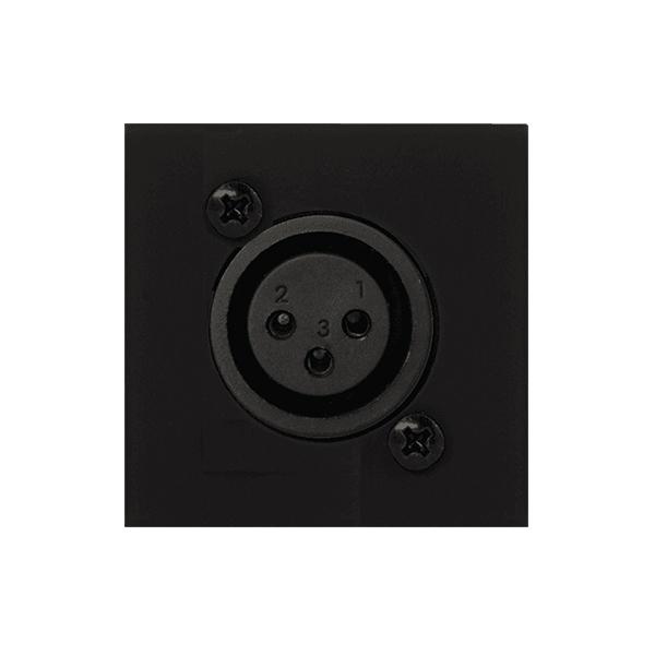 Audac CP45XLFS/B - Модуль настенной панели с разъемом XLR (розетка) – Phoenix, черный