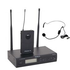 Proel RMW1000H - Радиосистема (приемник, поясной передатчик, наушный микрофон), 551–581 МГц
