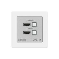 Kramer WP-211T/EU-80/86(W) - Настенная панель-коммутатор 2х1 HDMI с автоматическим переключением