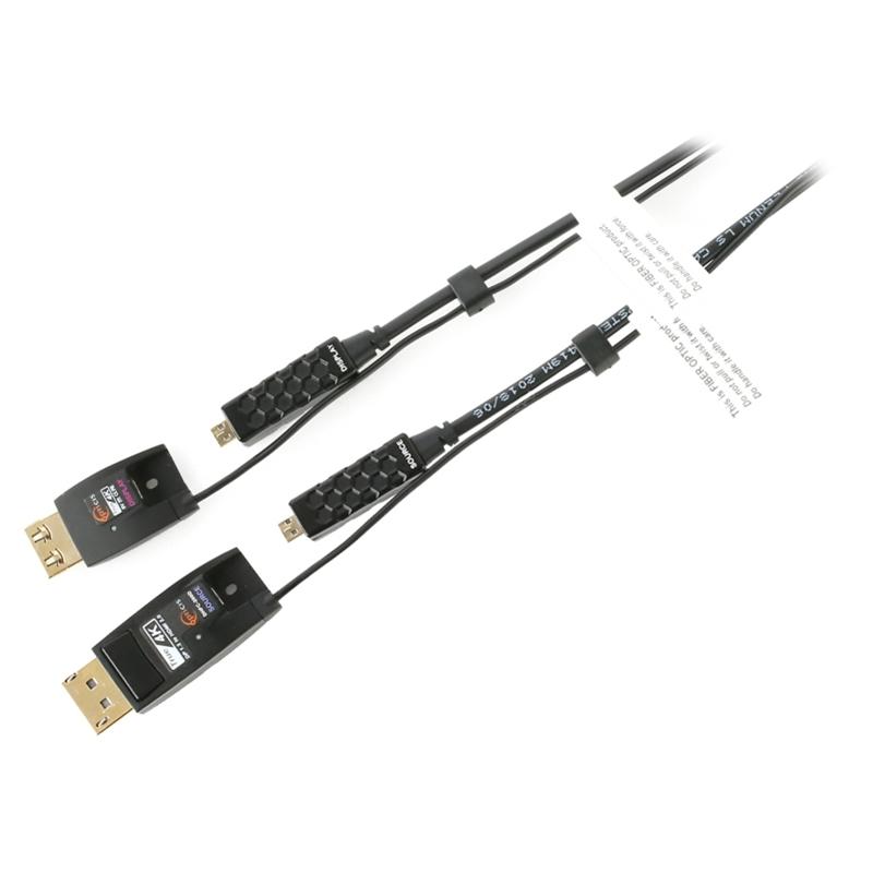 Opticis DHFC-200D-100 - Кабель-переходник DisplayPort 1.2 - HDMI 2.0, гибридный (вилка-вилка), 4096x2160/60 с 3D, CEC, EDID, HDCP 2.2, малодымный, без галогенов