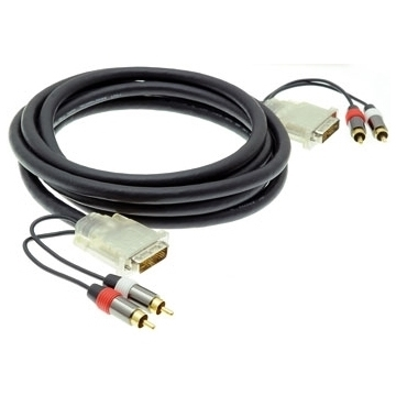 Qtex TC-D25P/2RP - Кабель DVI-D, 2х RCA (вилка) – DVI-D, 2х RCA (вилка)