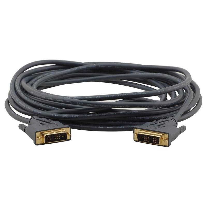 Kramer C-MDM/MDM-10 - Кабель DVI Single Link (вилка-вилка), гибкий