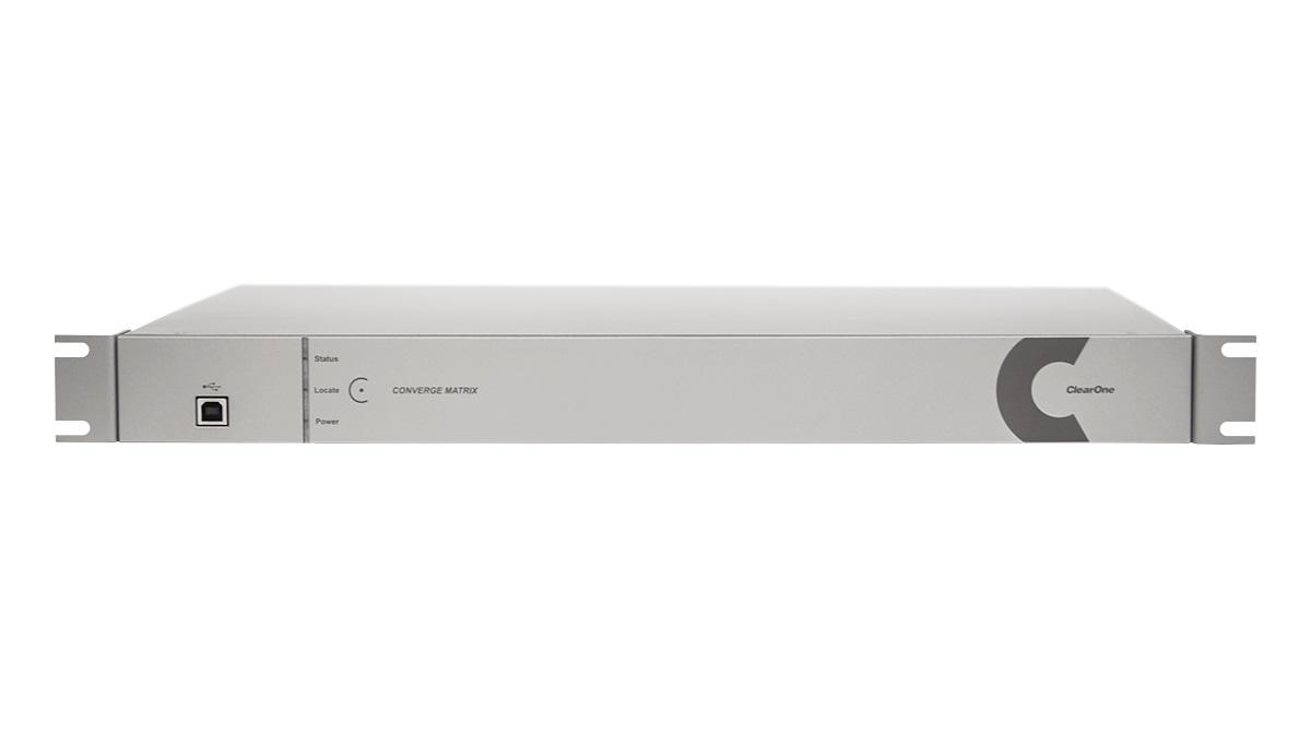 ClearOne CONVERGE Matrix 512 - Автоматический цифровой микшер/IP-роутер до 512x512 аудиоканалов, поддержка Dante