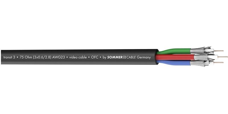 Sommer Cable 600-0851-03 - Трехканальный видеокабель серии TRANSIT 3 HD