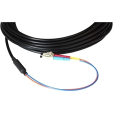 Opticis LLSD-090DT - Дуплексный одномодовый оптоволоконный кабель с разъемами 2LC-2LC в защитной оболочке