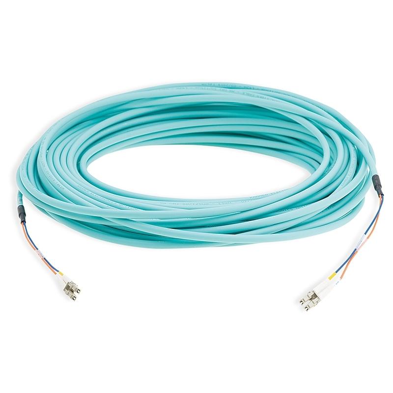 Kramer CLS–2LC/OM3-33 - Малодымный оптоволоконный кабель OM3 с разъемами 2LC, без галогенов