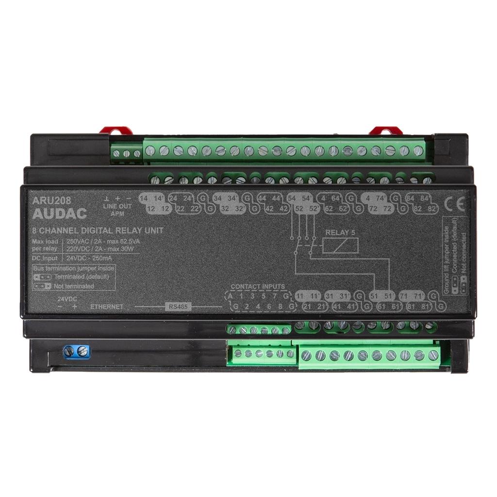 Audac ARU208 - Универсальный релейный модуль для 8 зон