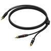 Procab PRA711/1.5 - Аудиокабель miniJack 3,5 мм стерео (вилка) – 2х RCA (вилка), гибкий, UltraFlex™
