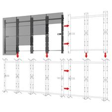 Peerless-AV DS-LEDA27-4X4 - Монтажный комплект для установки видеостены из безрамочных панелей Absen FHD ACCLAIM 1.2
